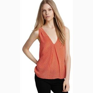Joie Agathe V-Neck Sleeveless Silk Top Diamond